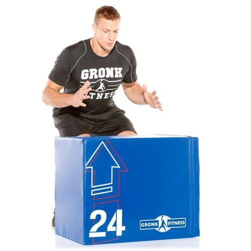 Soft Wood Plyo Box w/WeightShift Technology - Gronk Fitness Products   B077L9LKCF