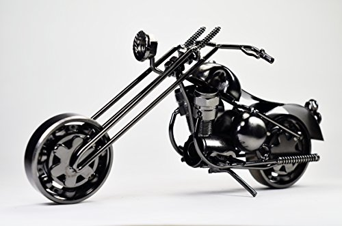 Metal sculpture -Retro Classic Handmade Iron Motorcycle Model GM2A Unique Metal Art Decor – Home Décor