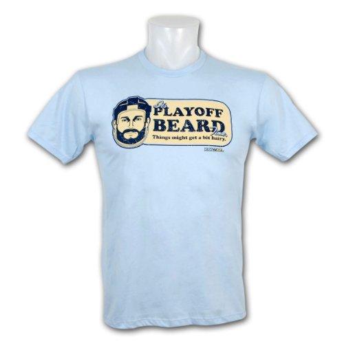 KractIce Playoff Beard Fine Jersey Vintage T-Shirt (Light Blue) - Size X-Large