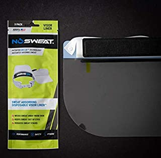 product image for Face Shield Sweat Liner - NoSweat - Made in USA - (Instantly Wicks Moisture & Prevents Sweat Stains (Actual Face Shield Not Included) (6 Pack)