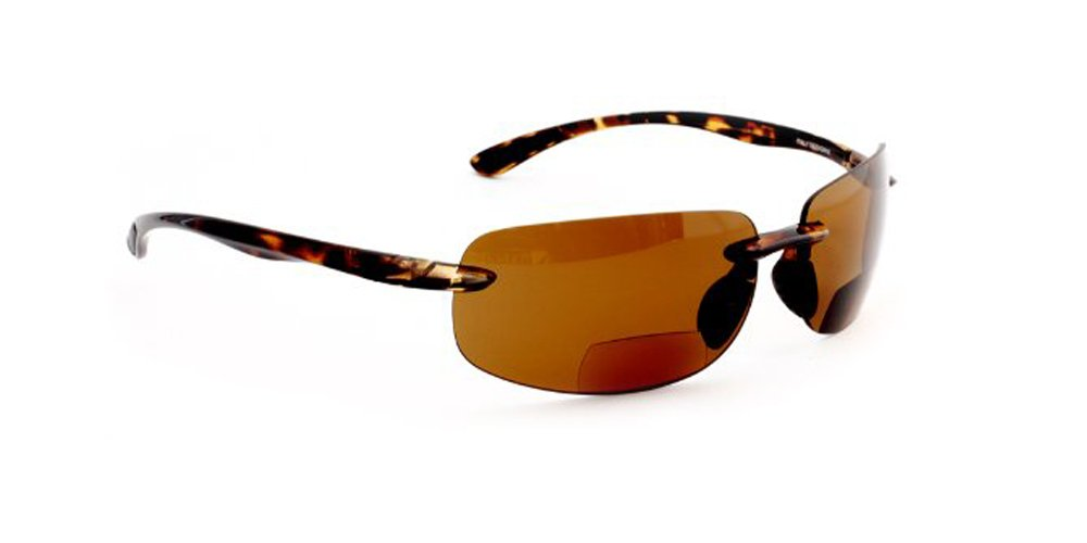 bdf06c7ad29 Maui Island Polarized Bifocal Reading Sunglasses with Polycarbonate Lens  for Men and Women Wrap-Around