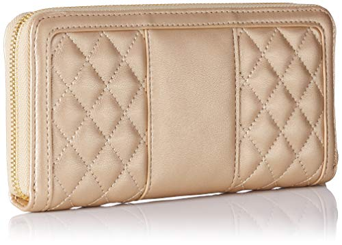 Oro Or nappa quilted Portefeuilles Pu Met Moschino Portaf Love CUawxqfzW