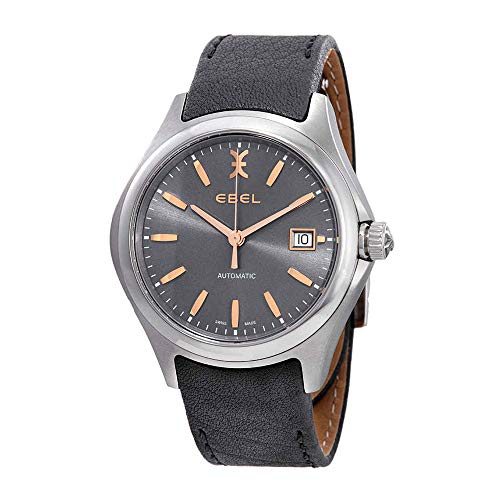Ebel Wave Automatic Grey Galvanic Dial Men's Watch 1216332