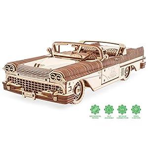 Ugears Dream Cabriolet Modellino Auto In Legno Puzzle 3d Per Adulti Modello Meccanico Rompicapo In Legno Per Adulti Kit Di Costruzione Giocattolo Educativo Per Bambini