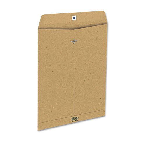 Earthwise Ampad - 100% Recycled Paper Envelope, Side Seam, 10x13, Natural Brown, 110/Box 19709 (DMi (Ampad Envelopes)