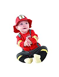 Baby Aspen Big Dreamzzz Layette Set in Themed Gift Box, Baby Firefighter, 0-6 Months, 2 Piece