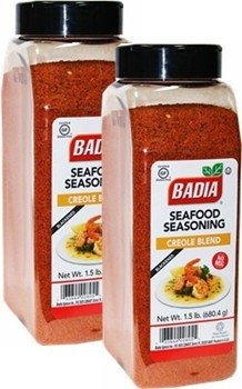 Badia Seafood Seasoning Creole Blend (Blackened) 1.5 lbs Pack of 2 by Badia