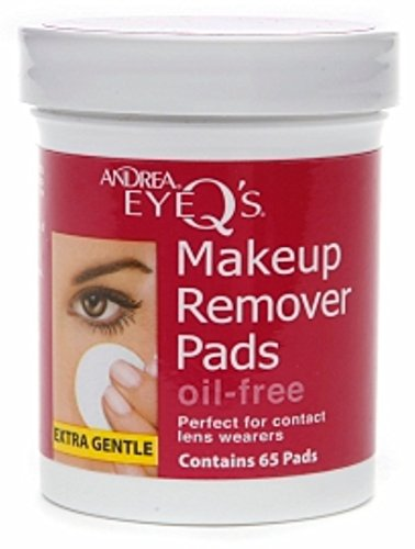 Andrea Eye Q's Eye Make-Up Remover Pads Oil-Free 65 Each (PACK OF 5)