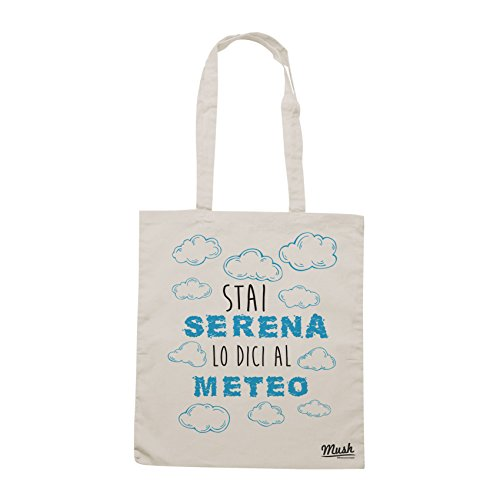 Borsa STAI SERENA LO DICI AL METEO - Sand - MUSH by Mush Dress Your Style
