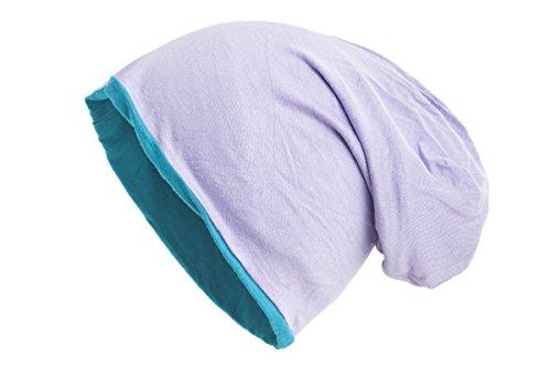 Shenky colores reversible Disponible Turquesa Gorro varios en lila bicolor ZYrwqaZ