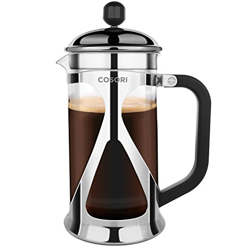 Best Price COSORI French Press Coffee/Tea Maker 8 Cup (1 Liter 34 Oz) - 4 Level Filtration System St...