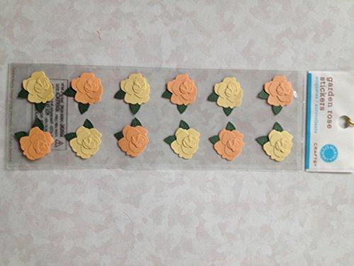 Martha Stewart Crafts Pink-Yellow Garden Rose Stickers ()