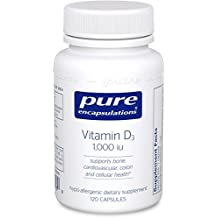 Pure Encapsulations - Vitamin D3 1,000 IU - Hypoallergenic Support for Bone, Breast, Prostate, Cardiovascular, Colon and Immune Health* - 120 Capsules