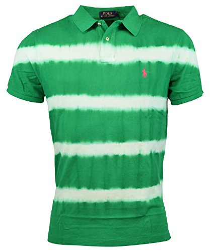 Polo Ralph Lauren Men's Custom-Fit Tie-Dyed Cotton Polo, Stem Green, Small