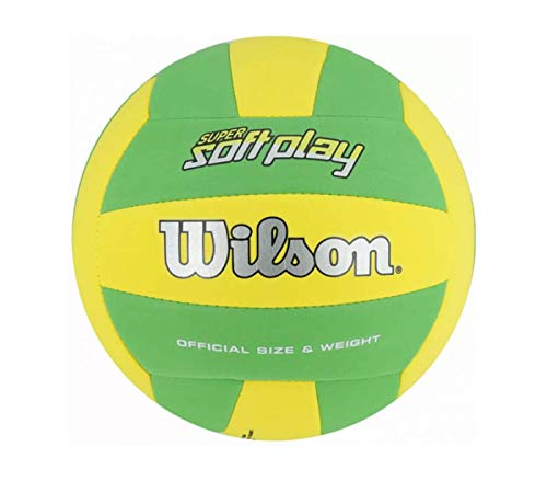 Wilson Super Soft Play Outdoor Volleyball (Yellow/Green)