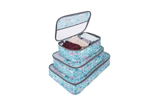 Travelon Set of 3 Packing Cubes, Summer Floral by Travelon