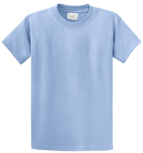 Heavyweight Tees Light - Joe's USA(tm - Youth Heavyweight Cotton Short Sleeve T-Shirt in Size L Light Blue