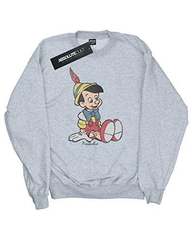 Heather Pinocchio Classic Grey Donna Felpa Disney wIn4EYTgqx