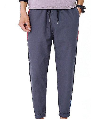 Pantalon en Polyester//Coton YYNANKU TT/&Mens Pants Pantalon Chino Micro-/élastique /à Taille Normale pour Hommes XXXXXL
