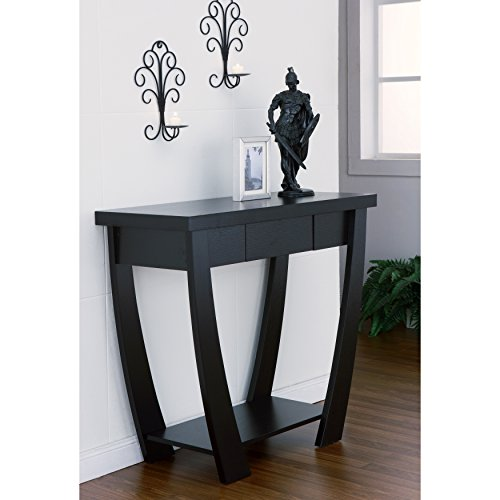 Metro Shop Furniture of America Modern Treasure Black Finish Console-Sofa Table-Black - Metro Modern Sofa