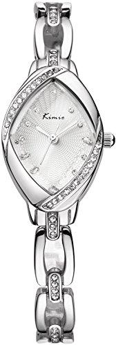 Women's Silver Watch Ladies Wrist Watch (Ladies Silver Bracelet Watch)
