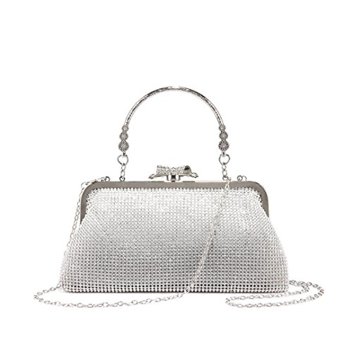 For Party Handbag Small Clutch Silver Wallets Shoulder Crossbody Purse Ladies Bag w7nZIfpqH