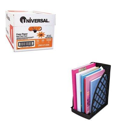 KITUNV08119UNV21200 - Value Kit - Universal Recycled Plastic Large Magazine File (UNV08119) and Universal Copy Paper (UNV21200)