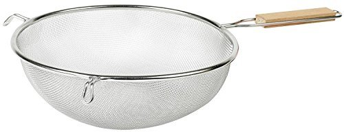 IMUSA USA IMU-71194 Stainless Steel Strainer with Wood Handle 8-Inch 8