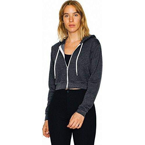 Fleece Polycotton Apparel Hoodie ladies Flex Navy Womens Crop American qXPx7Ix