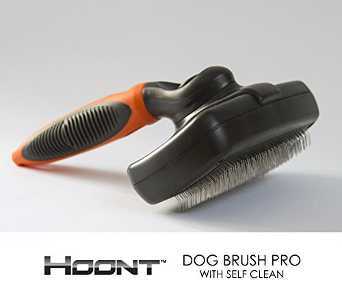 Hoont™ Dog Brush Pro with Self Clean – Pet Slicker Brush for Dogs and Cats – Removes Loose Hair, Mats and Tangles – Deep Penetration and Leaves Pet's Hair Fresh, Healthy and Shiny