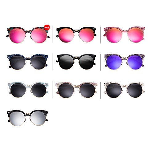 A lunettes lunettes en marbre de soleil verres Hommes soleil Lunettes hommes Large demi pour multicolore Ultra pour de femmes longueur polariseur soleil de nAwBzqCpx