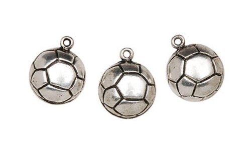 Soccer Ball Charms Bracelet Necklace
