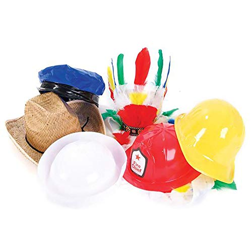 Kicko Party and Occupational Hats - 45 Pieces Hat Assortment - Perfect for Photo Booth Props, Birthday Parties, Dress Up, Role Play, YMCA Kit, Novelties, Event Favor and Supplies