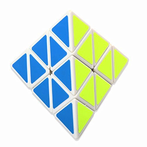 21secret Amusing Pyraminx Rubiks Puzzle Speed Cube Toy (white)