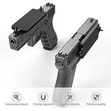 Merssyria Gun Magnet Mount, Gun Holder Car Truck Wall Vault Desk Holster Accessories Concealed for Handgun Shotgun Rifle Pistol Revolver with 40 lbs Rating (Updated)