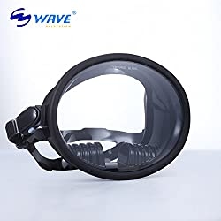 EDTara Scuba Diving Mask Waterproof Anti-fog Wide View Mask for Underwater Hunting Snorkeling Spearfishing Fishing Diving