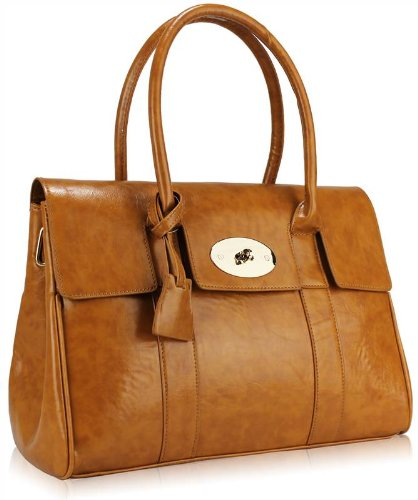 5514042501 Ladies Womens Vintage Designer Tote Shoulder Laptop Bag Satchel Briefcase  Handbag Tan Brown  Amazon.co.uk  Shoes   Bags