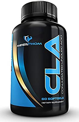 Best Fat Burner supplement CLA Premium by Megathom Sports Nutrition - Best thermogenic fat burner - Get your body in shape | 60 softgels back on track