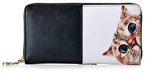 Malirona Frauen blockieren große Kapazitäten Luxus echtes Leder Cluth Wallet Kartenhalter Damen Geldbörse Kreditkarte (Farbe-07) Farbe-04 ch1Qs