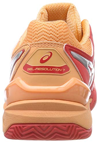 Alert 600 Resolution Red Shoes Red 7 Silver Asics Clay Women's Gel Tennis PwCAOxzq