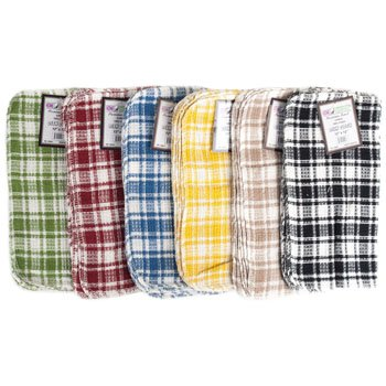 DISH CLOTH 12X12 4PK 6 ASSORTED COLORS, Case Pack of 72