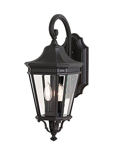 Murray Feiss OL5401BK Cotswold Lane 2 Light Wall Lantern, Black (Black Two Light Wall Lantern)