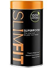 WOW TEA SlimFit Superfood - Superfood voor gewichtsverlies | Eiwitrijke maaltijdvervanger | 9 Superfoods | Hongeronderdrukkend poeder - 27 Kcal per portie | 150g, Made in EU