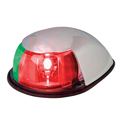 Perko Bow (Perko LED Bi-Color Bow Light - Red/Green - 12V - Chrome Plated Housing)