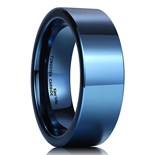 King Will Polished Tungsten Engagement