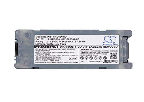 Cameron Sino 6600mAh Battery for MINDRAY BeneHeart D6 by Cameron Sino Battery (Image #3)