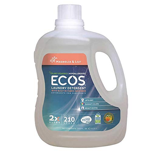 ECOS 2X Ultra Plant Powered Hypoallergenic, Magnolia and Lilies Scent, Laundry Detergent 1.64 Gallon (6.21 L) - 210 ()
