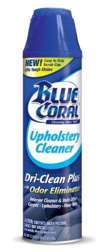 Upholstery Fabric Cleaner - Blue Coral DC22 Upholstery Cleaner Dri-Clean Plus with Odor Eliminator, 22.8 oz. Aerosol