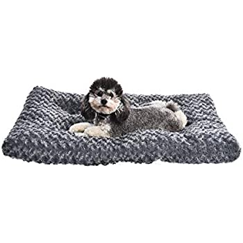 AmazonBasics Pet Dog Bed Pad - 35 x 23 x 3 Inch, Grey Swirl