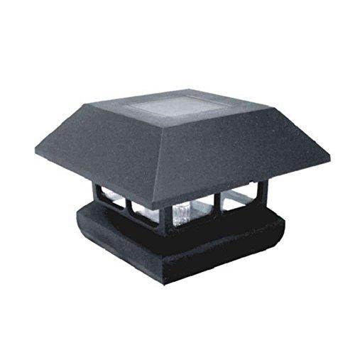 Veranda 4 in. x 4 in. Black Solar-Powered Post Cap for Deck or Fence, Black (12 PACK)